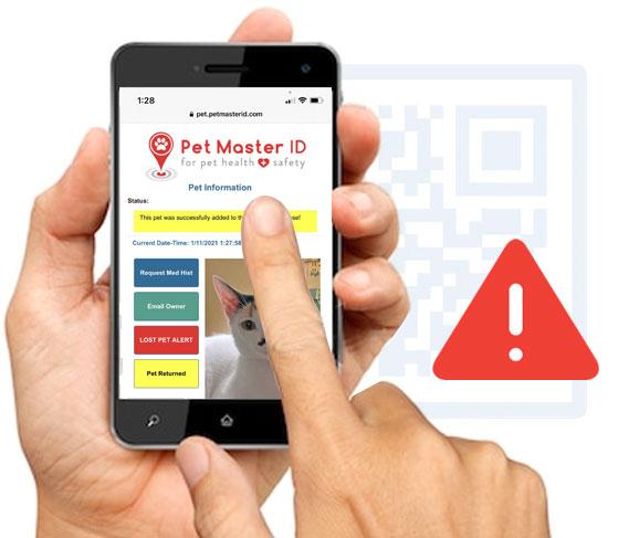 lost pet alert software